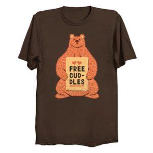 Cute Bear Free Cuddles Orange T-Shirt