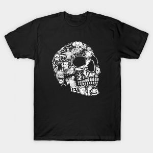 Horror Movie Mashup Skull T-Shirt