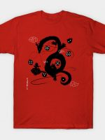 Wish to Dragon (b&w) T-Shirt