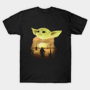 Baby Yoda Sunset T-Shirt