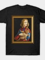 Heroine with an cat frame T-Shirt