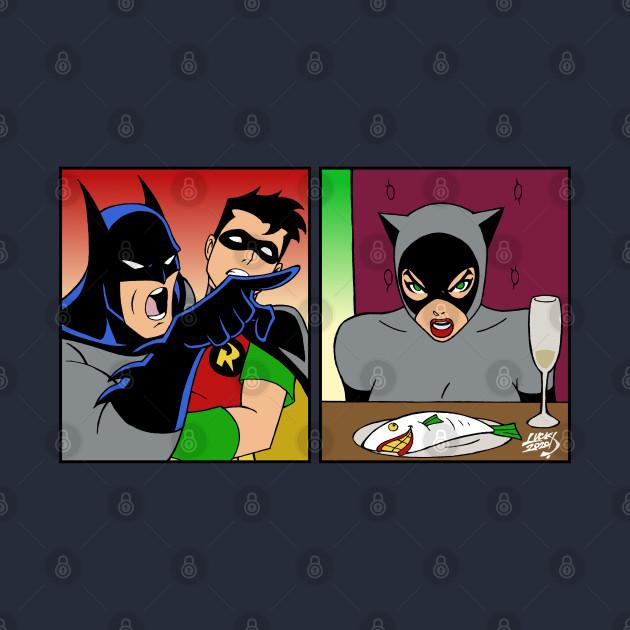 Batman Yelling at Catwoman