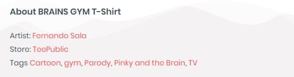 The Shirt List Links