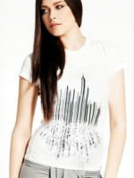 NEw York City Barcode Skyline T-Shirt